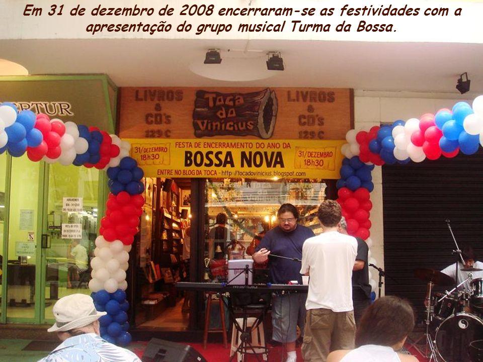 Rua Vinícius de Moraes Comemoração dos 50 anos da bossa nova. A Toca do Vinícius guarda importante acervo histórico da MPB, principalmente bossa nova.