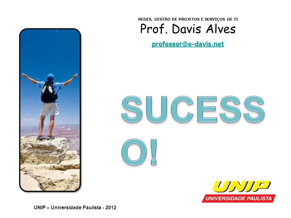 REDES, GESTÃO DE PROJETOS E SERVIÇOS DE TI Prof. Davis Alves professor@e-davis.net UNIP – Universidade Paulista - 2012