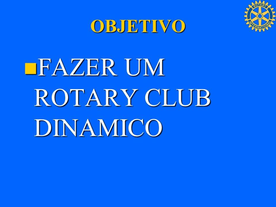 OBJETIVO FAZER UM ROTARY CLUB DINAMICO FAZER UM ROTARY CLUB DINAMICO