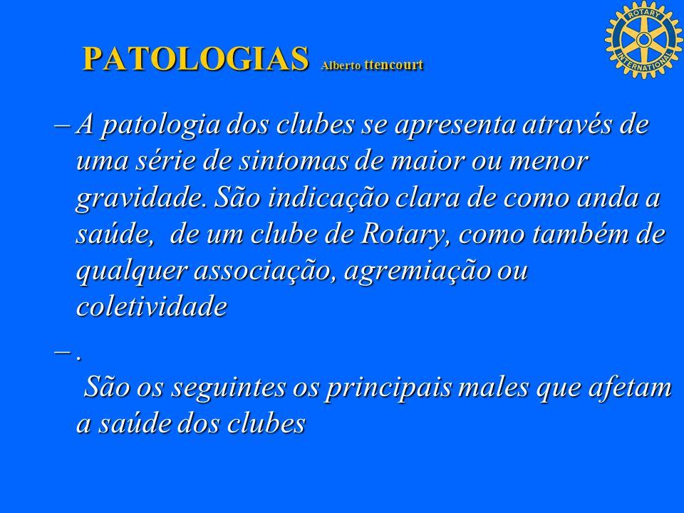 –A patologia dos clubes se apresenta através de uma série de sintomas de maior ou menor gravidade. São indicação clara de como anda a saúde, de um clu