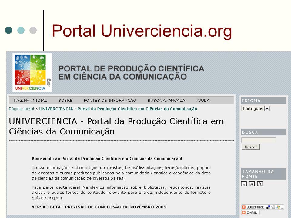 Portal Univerciencia.org @2009 – Sueli Mara S.P.Ferreira – smferrei@usp.br19