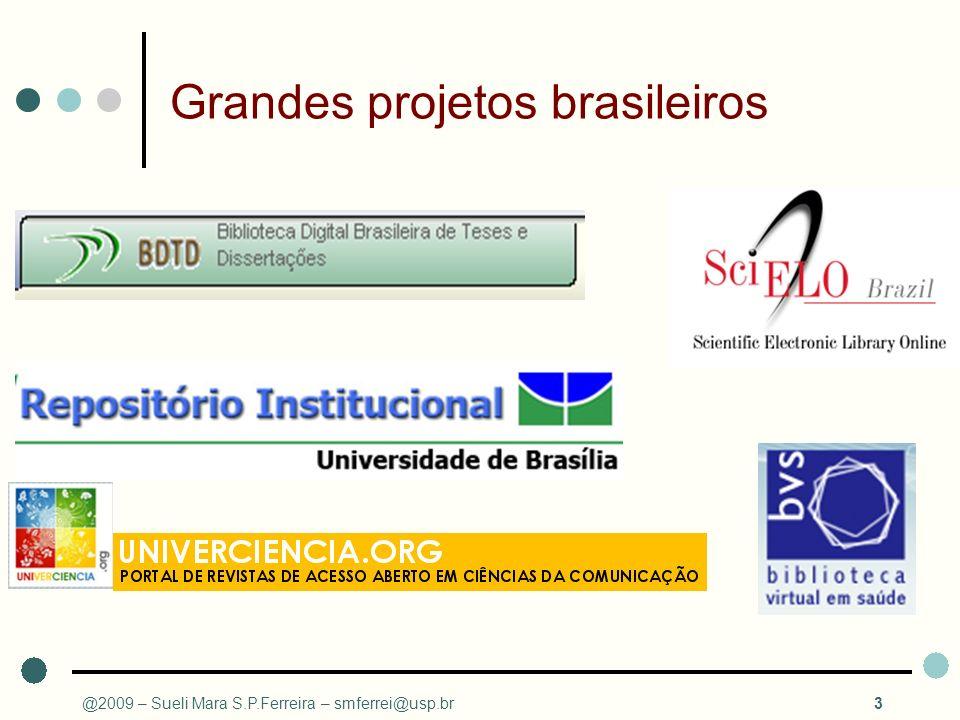 Grandes projetos brasileiros @2009 – Sueli Mara S.P.Ferreira – smferrei@usp.br3
