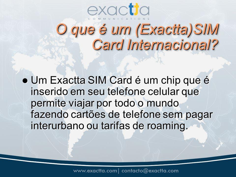 O que é um (Exactta)SIM Card Internacional.