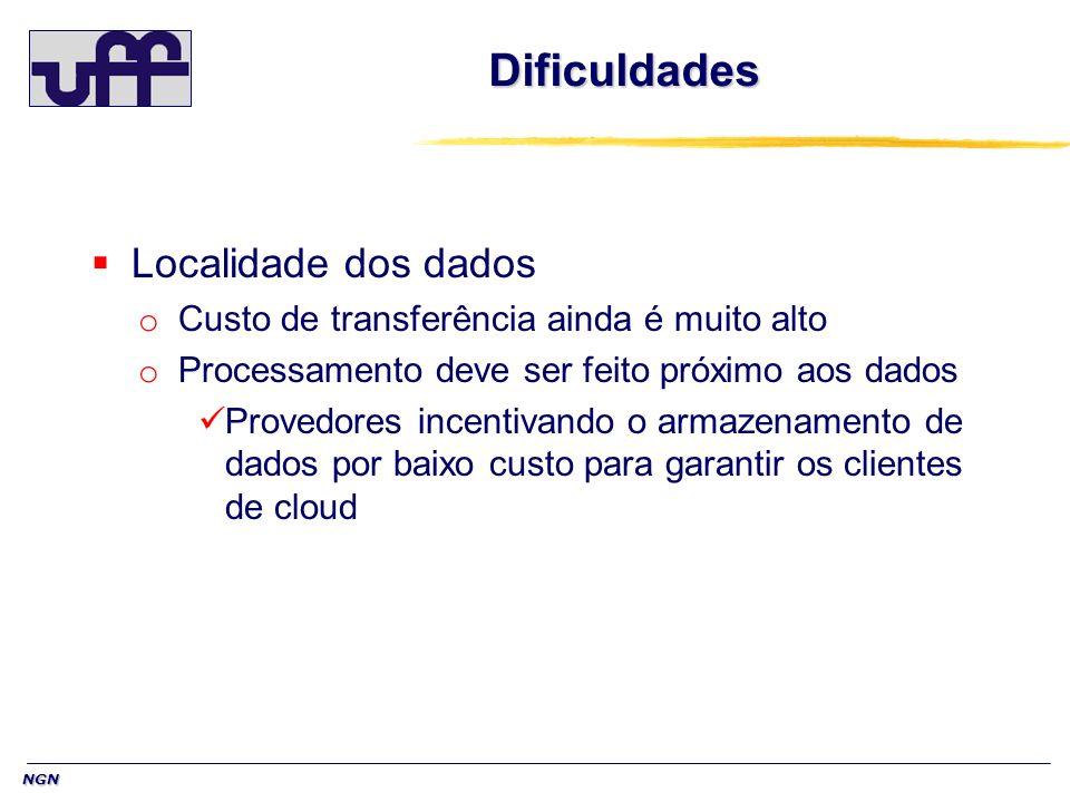 NGN Dificuldades Localidade dos dados o Custo de transferência ainda é muito alto o Processamento deve ser feito próximo aos dados Provedores incentiv