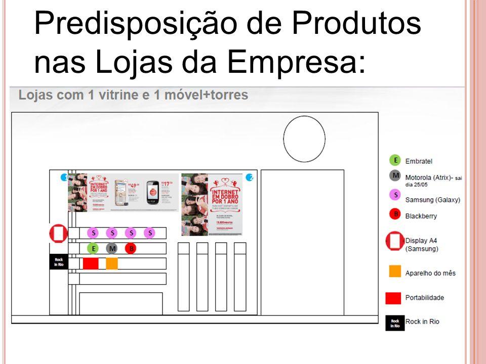 Predisposição de Produtos nas Lojas da Empresa: