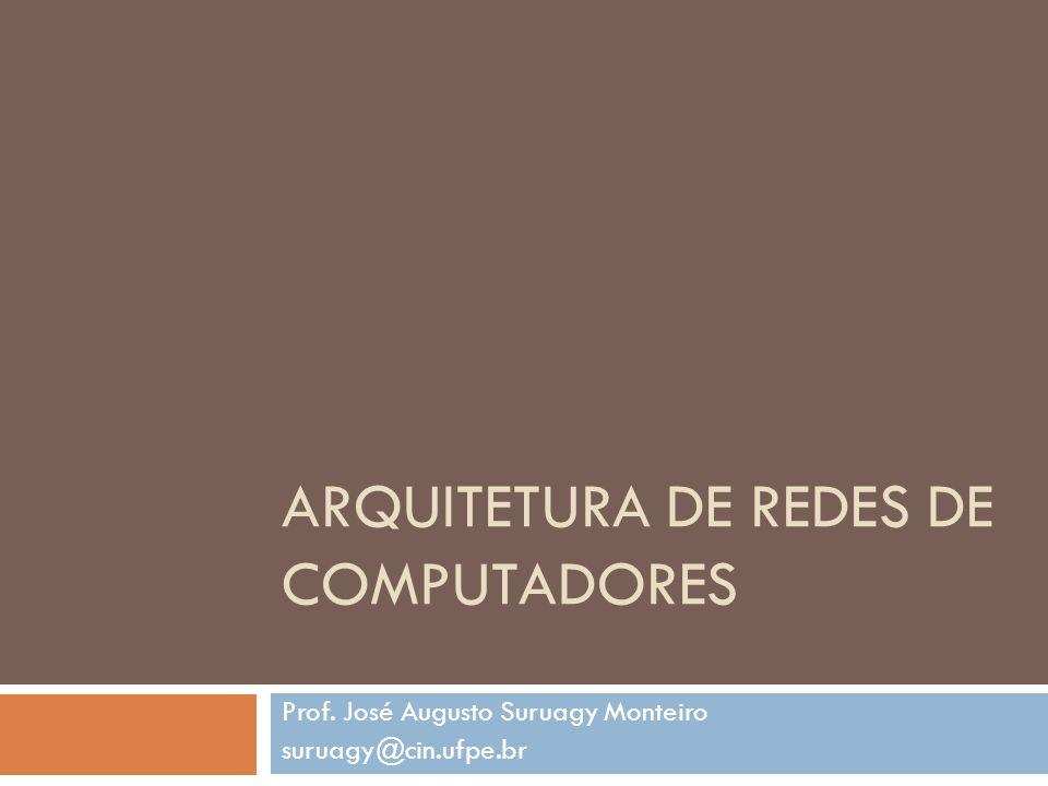 ARQUITETURA DE REDES DE COMPUTADORES Prof. José Augusto Suruagy Monteiro suruagy@cin.ufpe.br