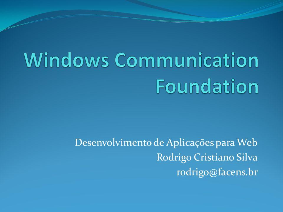 Desenvolvimento de Aplicações para Web Rodrigo Cristiano Silva rodrigo@facens.br