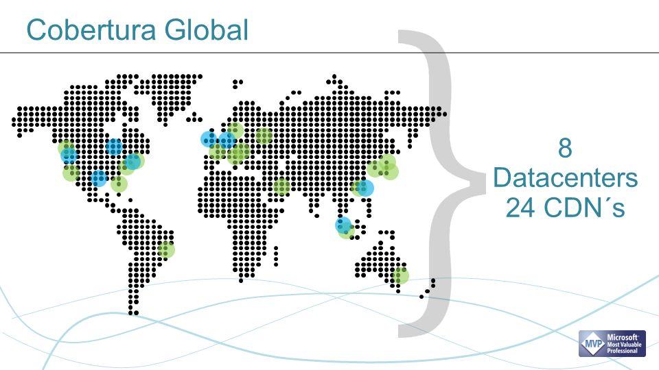Cobertura Global 8 Datacenters 24 CDN´s CDN