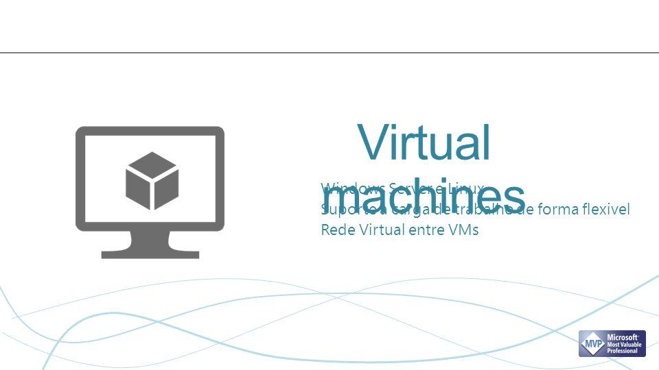 Windows Server e Linux Suporte a carga de trabalho de forma flexivel Rede Virtual entre VMs