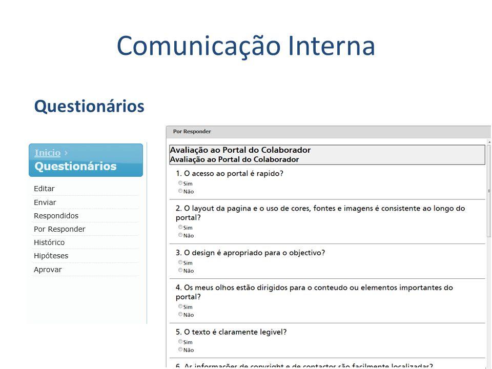 Comunicação Interna Questionários