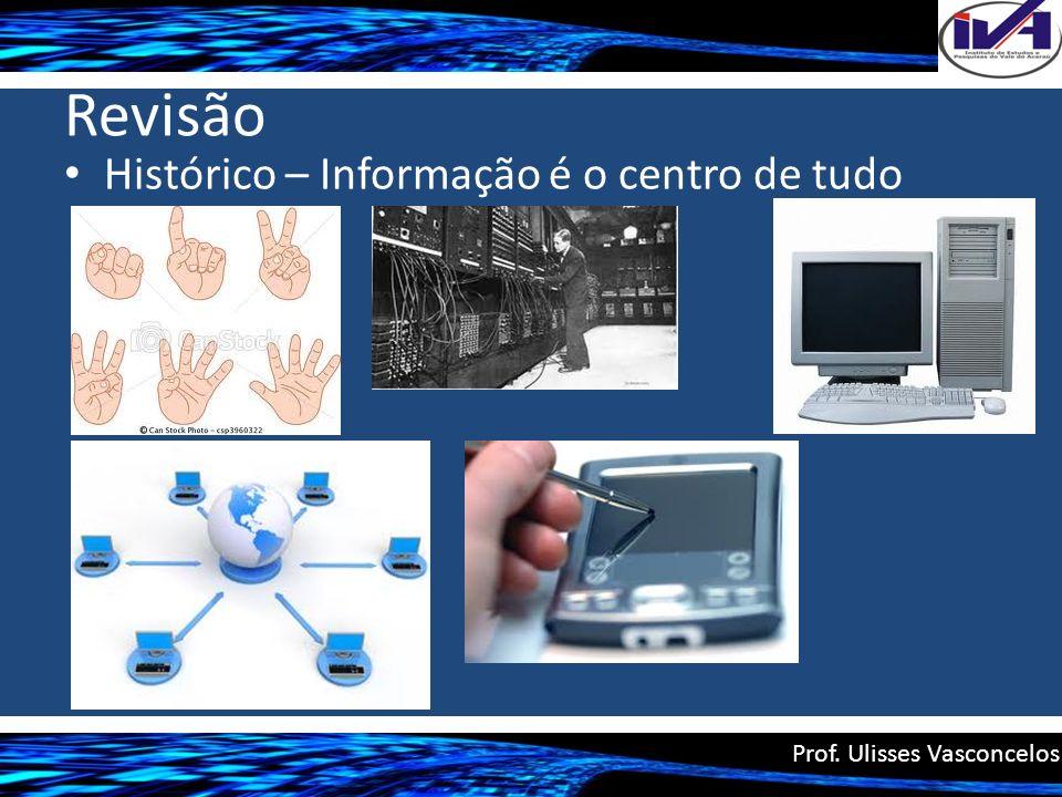 Revisão Histórico – Informação é o centro de tudo Prof. Ulisses Vasconcelos