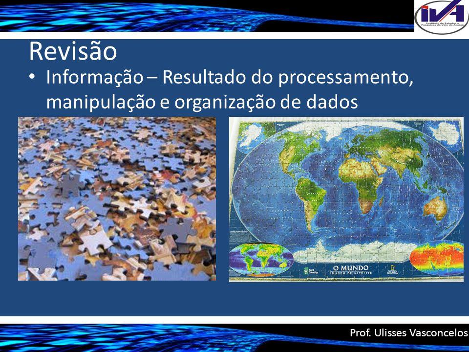 Revisão Informação – Resultado do processamento, manipulação e organização de dados Prof. Ulisses Vasconcelos