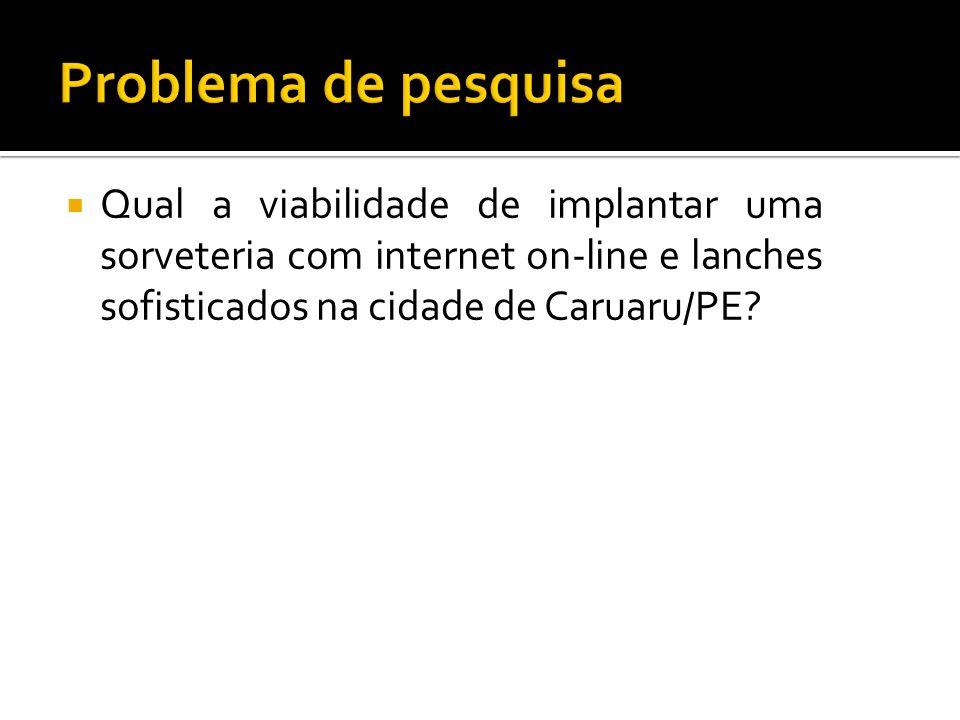 Qual a viabilidade de implantar uma sorveteria com internet on-line e lanches sofisticados na cidade de Caruaru/PE?