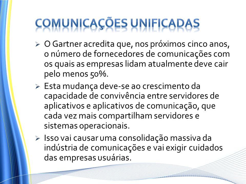 O Gartner acredita que, nos próximos cinco anos, o número de fornecedores de comunicações com os quais as empresas lidam atualmente deve cair pelo men