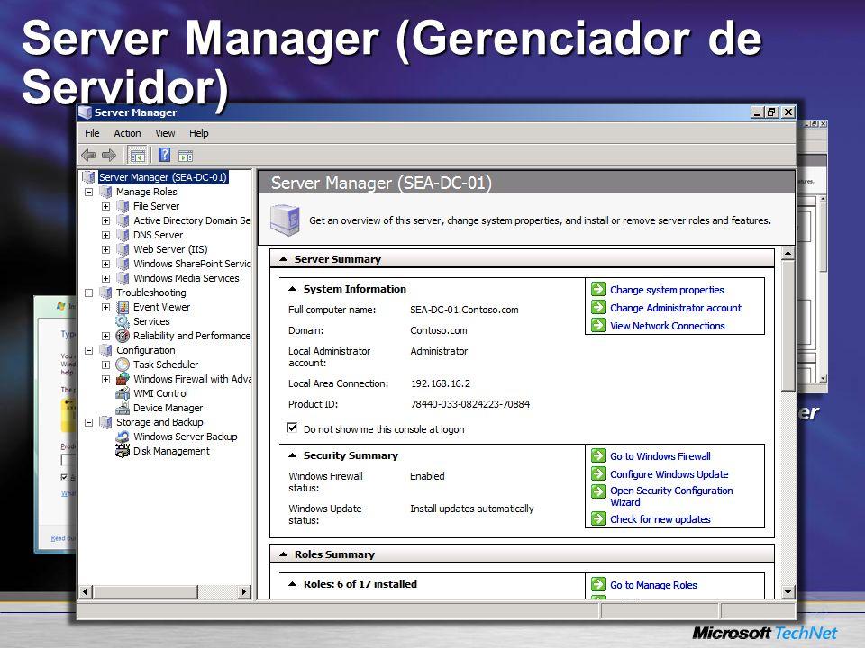 Server Manager Product Installation Initial Configuration Server Manager (Gerenciador de Servidor)