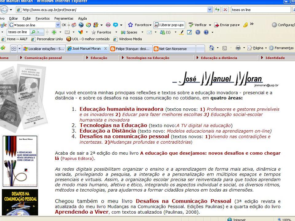 Desafios de uma educação humanista inovadora José Manuel Moran www.eca.usp.br/prof/moranhttp://moran10.blogspot.comjmmoran@usp.br