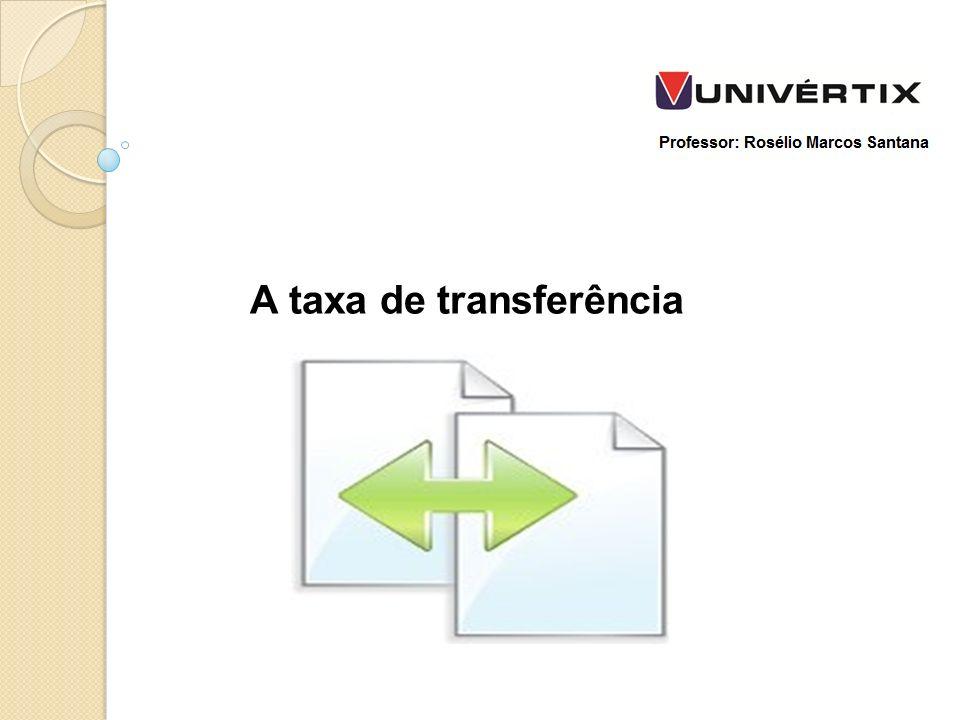 A taxa de transferência