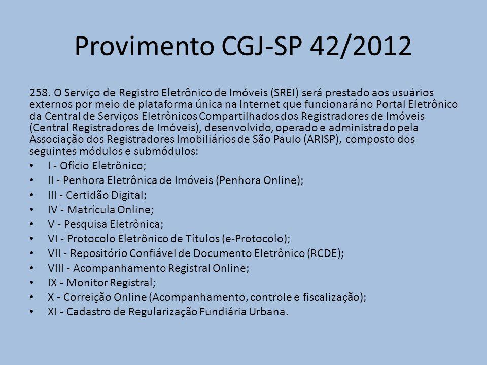Provimento CGJ-SP 42/2012 258.