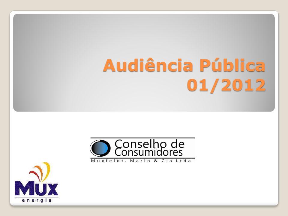 A Representatividade do Conselho de Consumidores da MUX ENERGIA PRESIDENTE: Valdir Angelo Cadini VICE PRESIDENTE: Peter Matias Antonio M.
