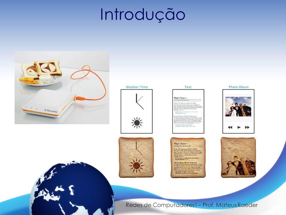 Redes de Computadores I – Prof. Mateus Raeder Introdução