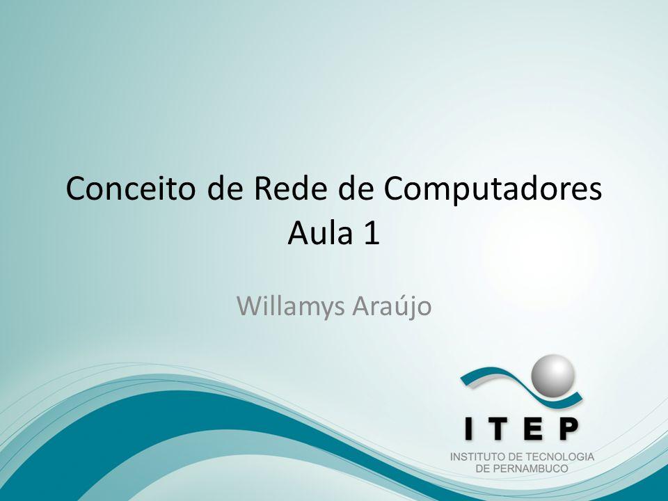 Conceito de Rede de Computadores Aula 1 Willamys Araújo