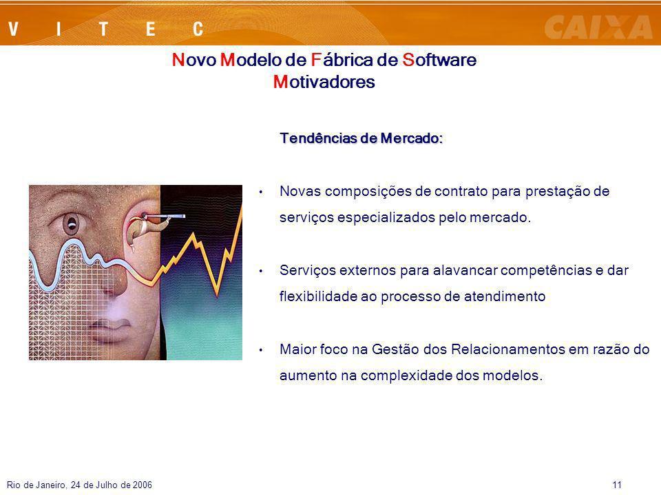 Rio de Janeiro, 24 de Julho de 200611 Tendências de Mercado: Novas composições de contrato para prestação de serviços especializados pelo mercado. Ser