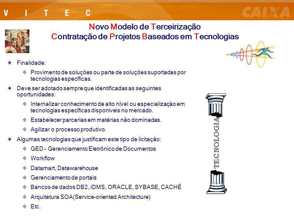 Rio de Janeiro, 24 de Julho de 20069 Finalidade: Provimento de soluções ou parte de soluções suportadas por tecnologias específicas. Deve ser adotado