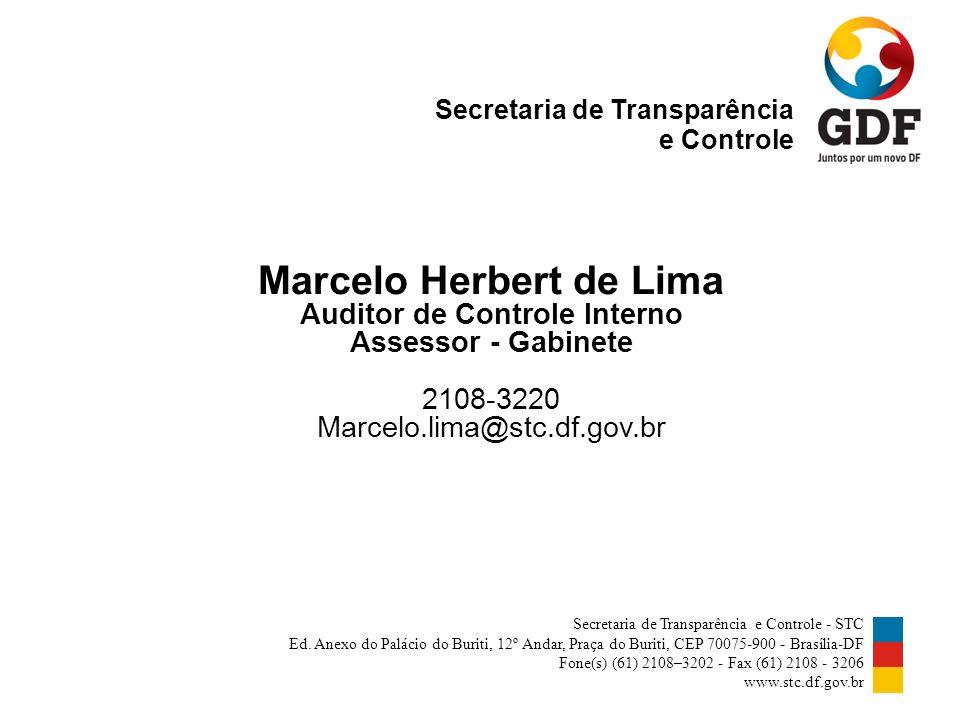 Secretaria de Transparência e Controle Secretaria de Transparência e Controle - STC Ed.
