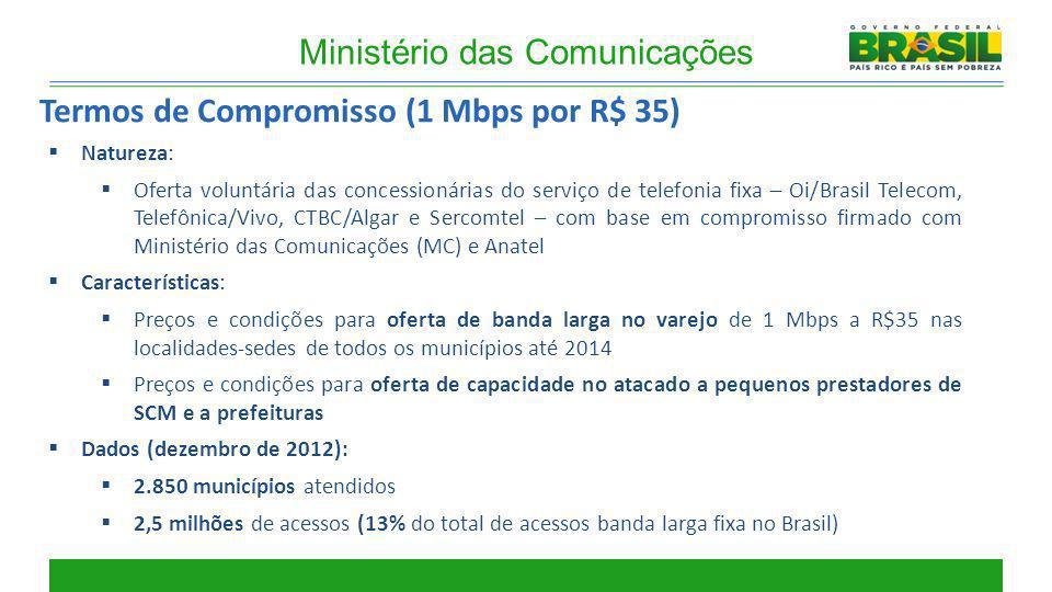 Natureza: Oferta voluntária das concessionárias do serviço de telefonia fixa – Oi/Brasil Telecom, Telefônica/Vivo, CTBC/Algar e Sercomtel – com base e
