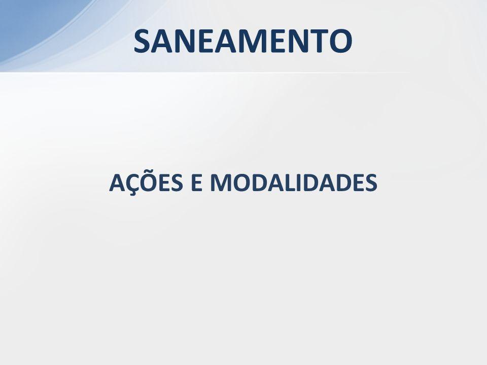 AÇÕES E MODALIDADES SANEAMENTO