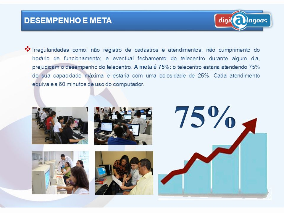 O número de usuários cadastrados é um importante indicador de desempenho. Mostra se o telecentro está inserido na comunidade e sendo utilizado por ela
