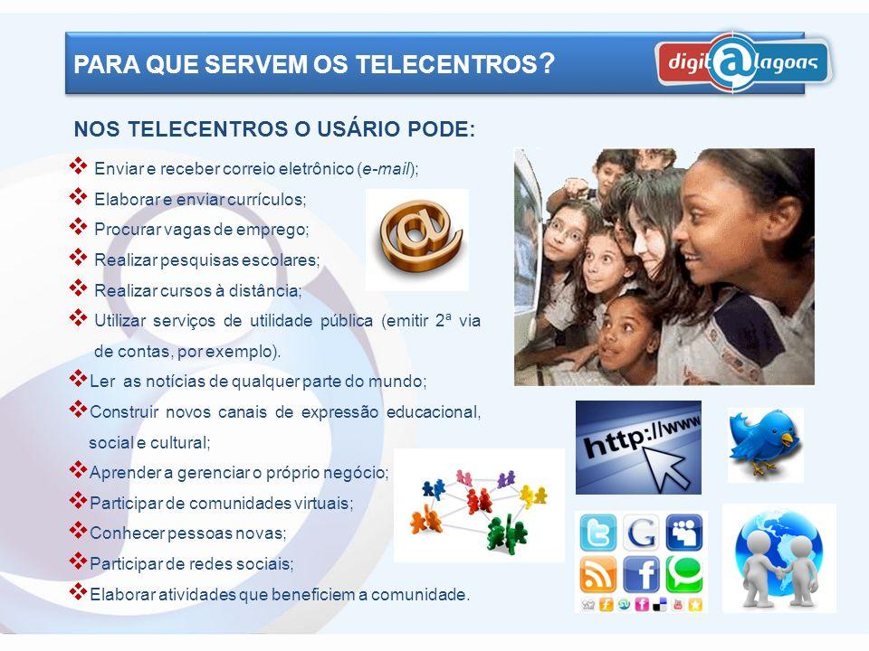 O PROGRAMA DE INCLUSÃO DIGITAL O uso da internet facilita as práticas de produção, troca, acesso e uso da informação, estimulando o desenvolvimento hu