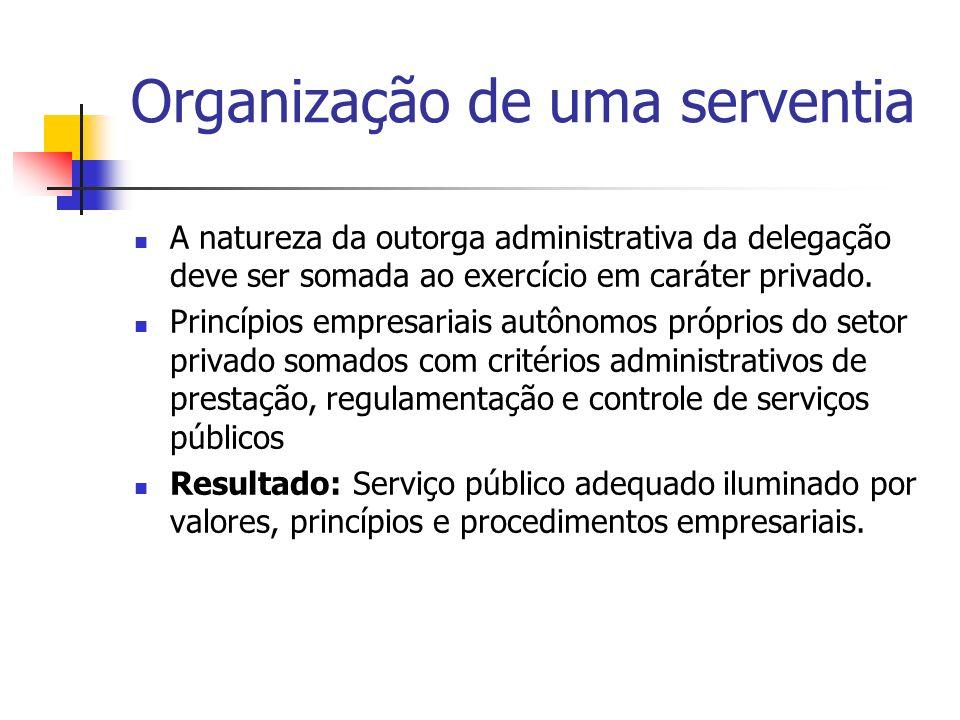 Organização de uma serventia A natureza da outorga administrativa da delegação deve ser somada ao exercício em caráter privado. Princípios empresariai