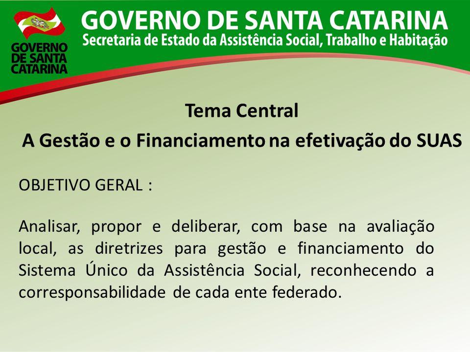 Analisar, propor e deliberar, com base na avaliação local, as diretrizes para gestão e financiamento do Sistema Único da Assistência Social, reconhece