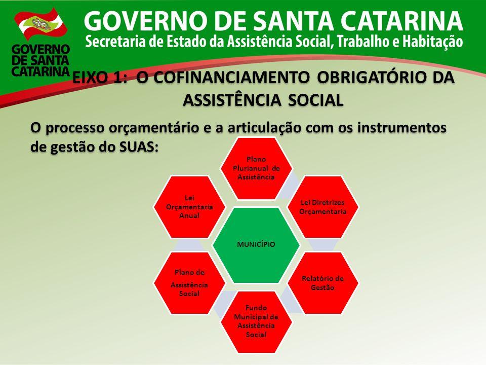 EIXO 1: O COFINANCIAMENTO OBRIGATÓRIO DA ASSISTÊNCIA SOCIAL EIXO 1: O COFINANCIAMENTO OBRIGATÓRIO DA ASSISTÊNCIA SOCIAL O processo orçamentário e a ar