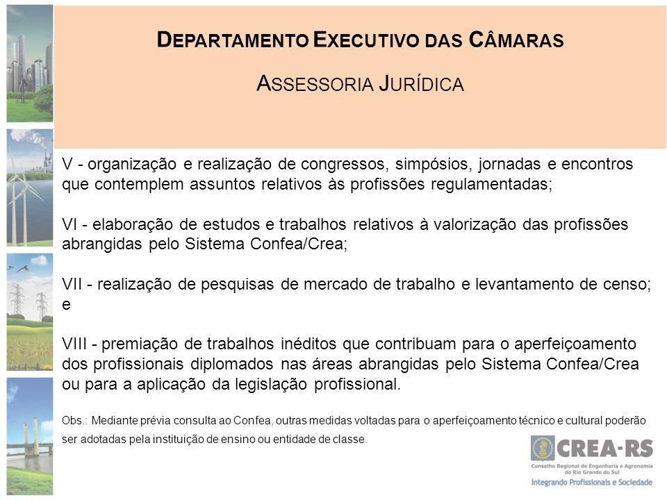 D EPARTAMENTO E XECUTIVO DAS C ÂMARAS A SSESSORIA J URÍDICA Instrumentos de comprovação da contribuição na área de aperfeiçoamento técnico e cultural: I.
