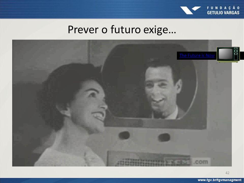 Prever o futuro exige… 42 The Future is Now