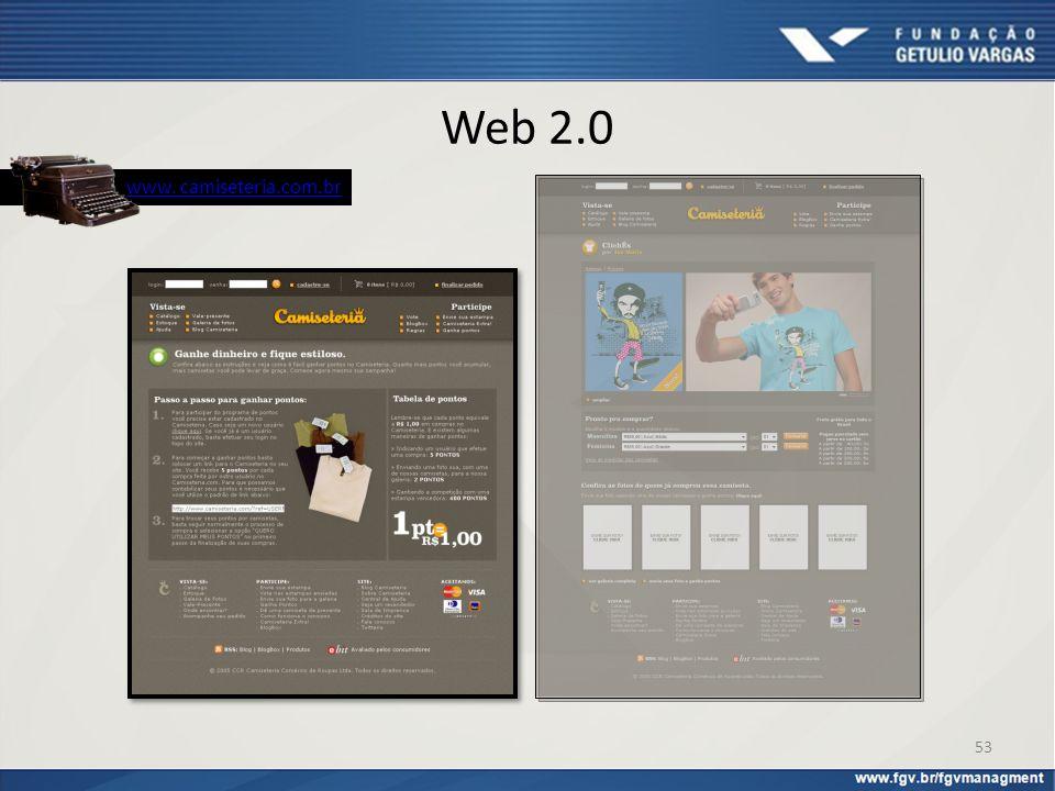 Web 2.0 www. camiseteria.com.br 53
