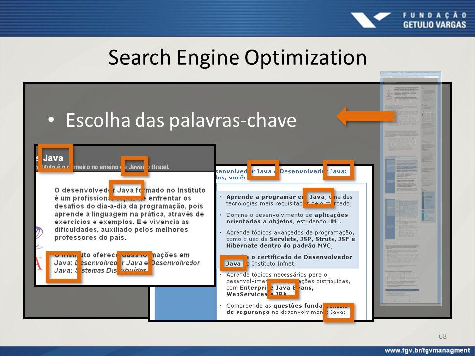 Escolha das palavras-chave Search Engine Optimization 68