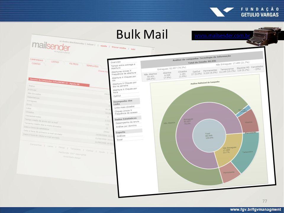 Bulk Mail www.mailsender.com.br 77