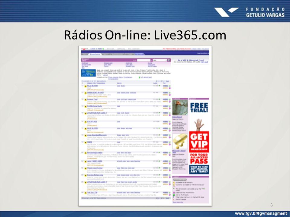 Rádios On-line: Live365.com 8