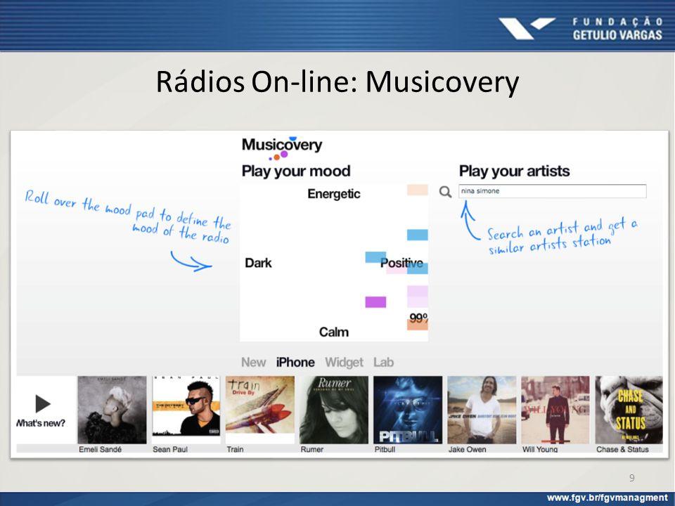 Rádios On-line: Musicovery 9