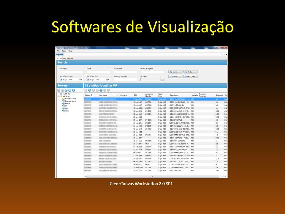 Softwares de Visualização ClearCanvas Workstation 2.0 SP1