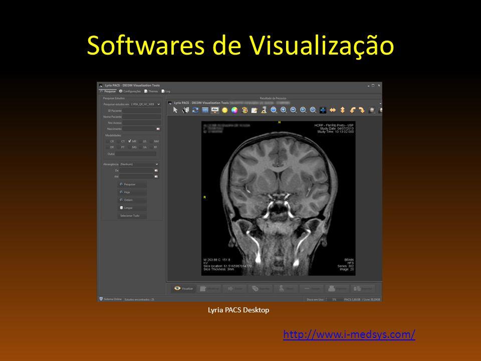 Softwares de Visualização Lyria PACS Desktop http://www.i-medsys.com/