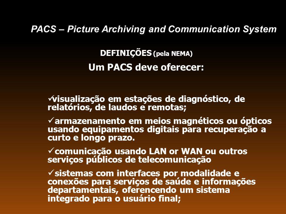 PACS PEP Consistência de dados de cima para baixo (do sistema mais geral para o mais específico) HIS RIS FDDI Ring Core Switch A Router Firewall Core Switch B LAN/WAN DICOM Pré-requisitos Dinâmica de Processos