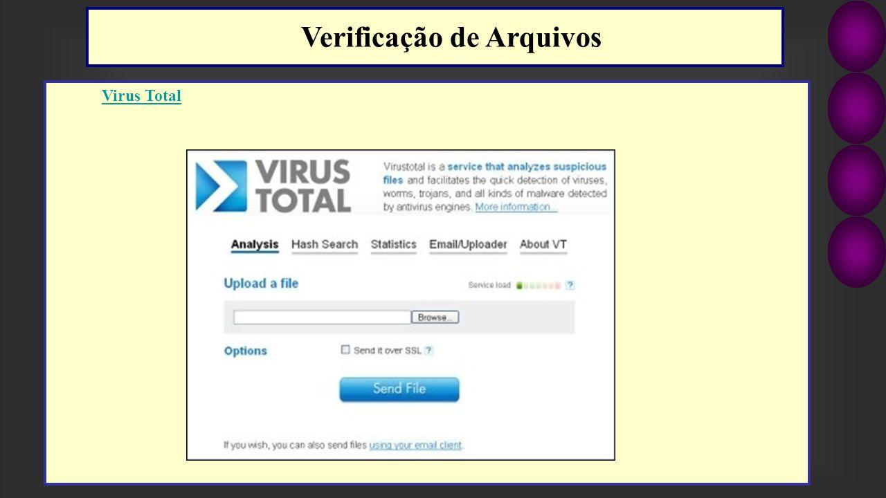 Virus Total Verificação de Arquivos