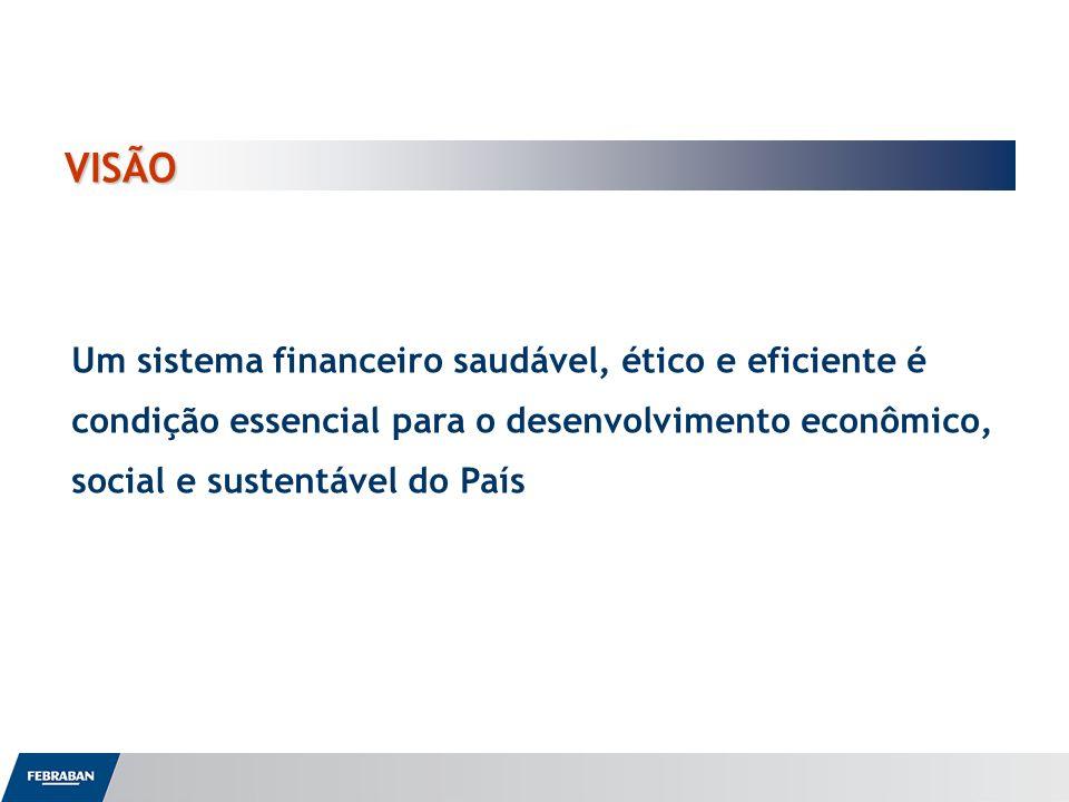 VISÃO Um sistema financeiro saudável, ético e eficiente é condição essencial para o desenvolvimento econômico, social e sustentável do País