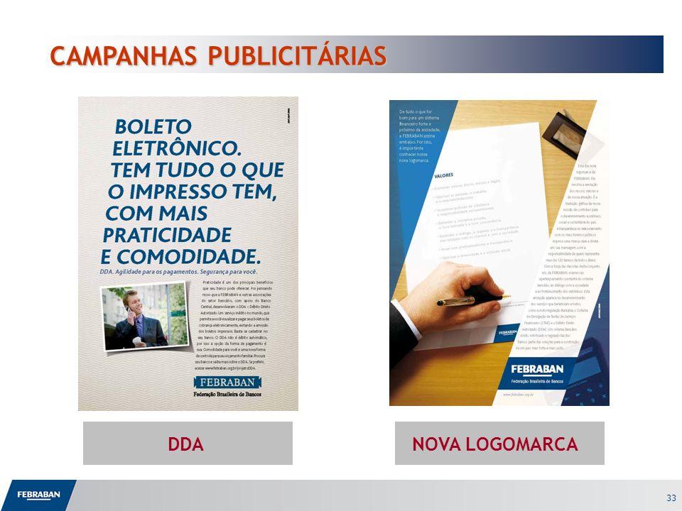 33 CAMPANHAS PUBLICITÁRIAS CAMPANHAS PUBLICITÁRIAS DDANOVA LOGOMARCA