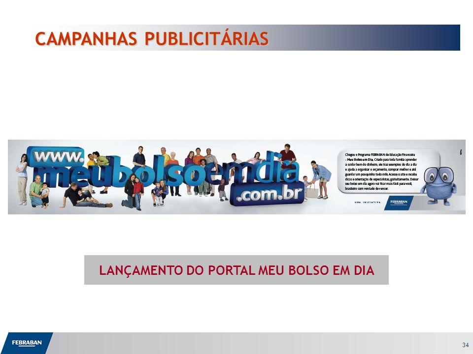 34 CAMPANHAS PUBLICITÁRIAS LANÇAMENTO DO PORTAL MEU BOLSO EM DIA
