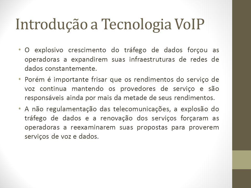 Introdução a Tecnologia VoIP O explosivo crescimento do tráfego de dados forçou as operadoras a expandirem suas infraestruturas de redes de dados cons